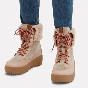✨HP✨ Coach Tyler Suede/Leather Lamb Shearling Boot